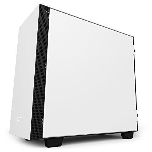 NZXT H400i Micro-ATX Computer Case with digital fan control and RGB lighting, White/Black (CA-H400W-WB)