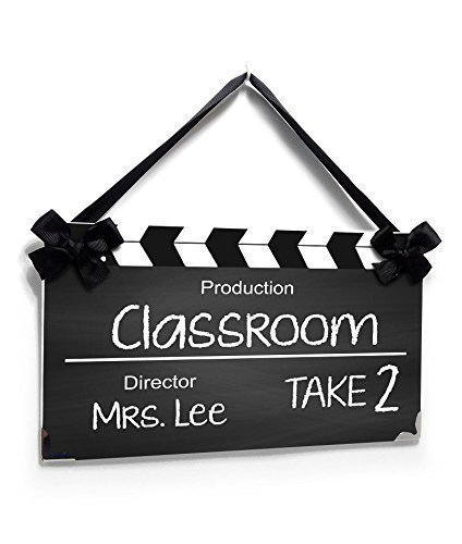 Classroom Personalized Teacher Name Plate Movie Take Inspired -