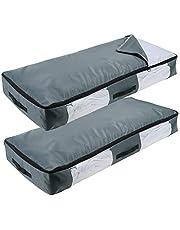 Lifewit Sac de Rangement sous Lit à Grande Capacité Tissus Oxford Épais pour édredons couvertures literie duvets couettes oreillers vêtements (Style de Plus Épais)