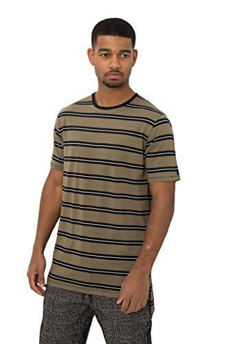 Zanerobe Men's Stripe Flintlock Short Sleeve Tee, Grass/Black