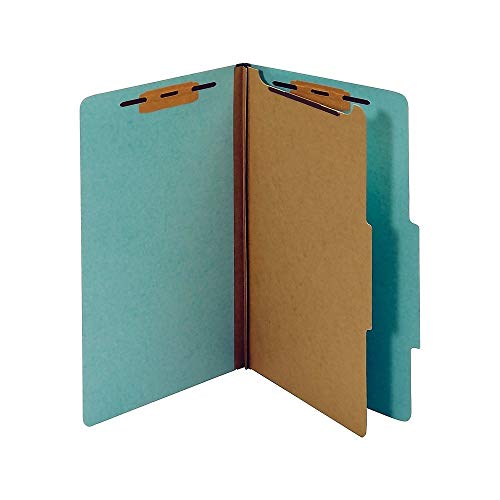 Partitions Legal - Staples Colored Pressboard Classification Folders, Legal, 1 Partition, Light Blue, 20/Pack