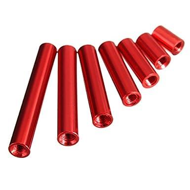 EsportsMJJ M3Ar1 M3 Aluminiumlegierung Abstandsbolzen 8-35Mm Rot Rund Platine Abstandhalter 10St 8Mm