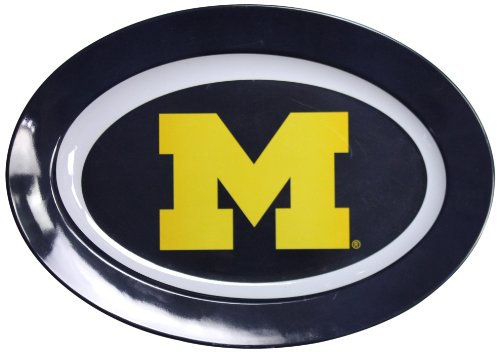 NCAA Michigan Wolverines Melamine Oval Platter, 16-Inch