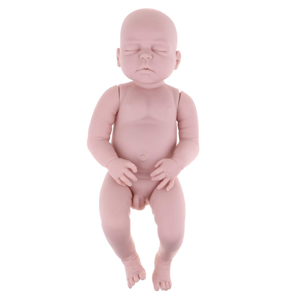 SM SunniMix Real Touch Silicone 22inch Reborn Sleeping Baby Boy Doll Kits Head Full Limb Body Mold Adult Collections