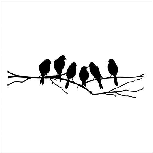 stickers Decal Removable Black Branch