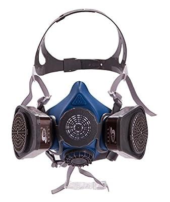 Induschoice Half Facepiece Reusable Respirator Spray Paint Pesticide Respirator Respiratory Protection Dual Cartridges Gas Mask,Medium(Mask+1 Pair Cartridges)