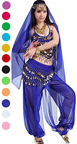 Athena YY Arabian Nights Costume Halloween Belly Dance Costume Blue ()