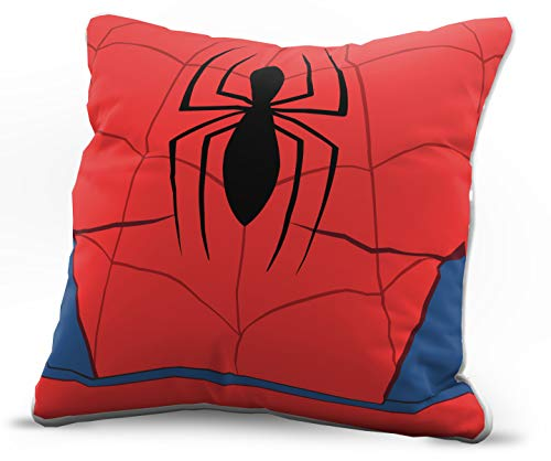 Jay Franco Marvel Avengers Spidey Bust Decorative Pillow Cover - Kids Super Soft 1-Pack Throw Pillow Cover Features Spiderman - Measures 15 Inches x 15 Inches (Official Marvel Product)