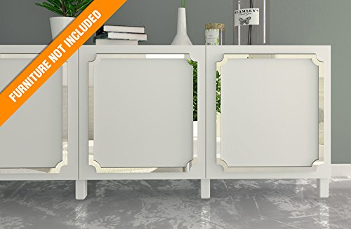 HomeArtDecor - Aveiro Fretwork Overlay - Suitable for IKEA Besta - High Quality Overlay - Furniture Overlays - Mirrored Furniture - Furniture Appliques - Furniture Decoration - Refurbished - Décor