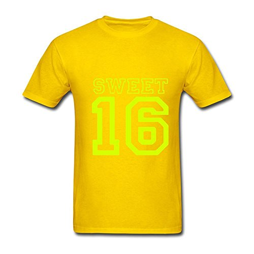 Men's Birthday Sweet 16 T-Shirt XXX-Large (Birthday Cake With Name Edit)