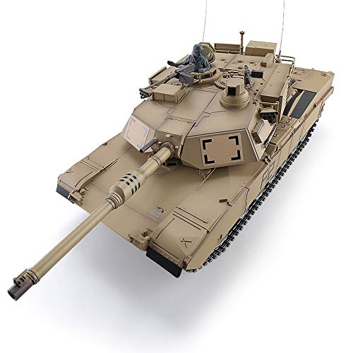 YUBAIBA Remote Control Tank, Metal Oversized Adult Charging Battle Toy Car, Tank Model, Boy Toy Car Model Decoration Boy…