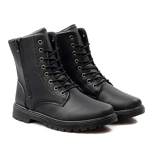 Boots Bottes Automne Vintage 39 En Bottines Cuir Homme Hommes 42 Imperméables Gongzhumm À Hiver Noir 5 Noël Eu Military Lacets Britanniques Zx4nWqOY