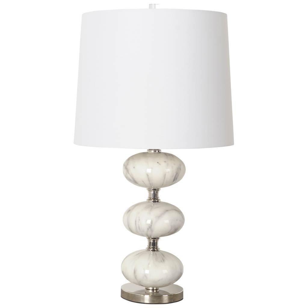 Mercana Art D/écor Boteler Table and Desk Lamps White