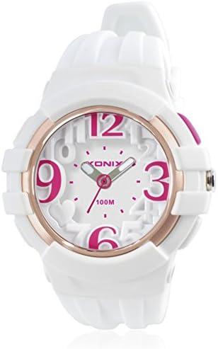 ガールズクオーツ時計、100 m防水光ポインタタイプシリコンストラップ多数[動き]学生シンプルレジャー[子] -b
