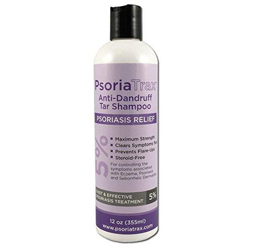 Coal Tar Psoriasis Shampoo Psoriatrax 25% Coal Tar Solution 12oz Bottles- Psoriasis - Equivalent to 5% Coal Tar (1 Bottle)