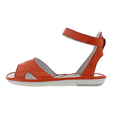 e672379df4d Fly London Mafi Poppy Orange Leather Ankle Strap Open Toe Flat Sandals   Amazon.co.uk  Shoes   Bags