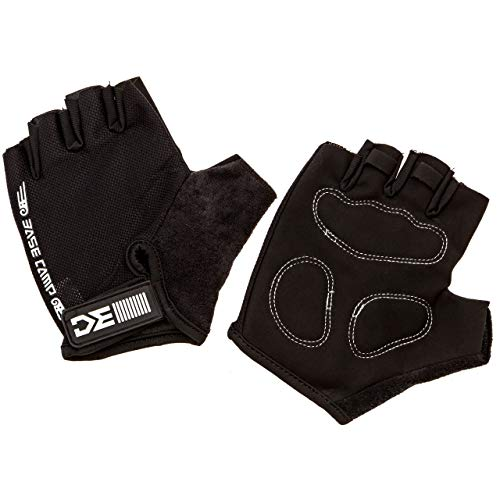 Cycling Gloves - Extra Large (XL) Size Mens Half Finger Black - Soft Cool Lightweight Breathable Protective Lycra Material - Padded Shock Absorption - Mountain and Road Cycling ()