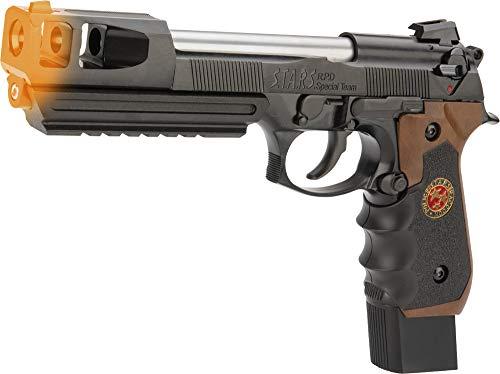 Evike WE-Tech Biohazard Barry Burton M92 Custom Gen II Gas Blowback Airsoft Pistol (Model: Semi/Full Auto w/Brown Grip) (Guns Sweet Airsoft)