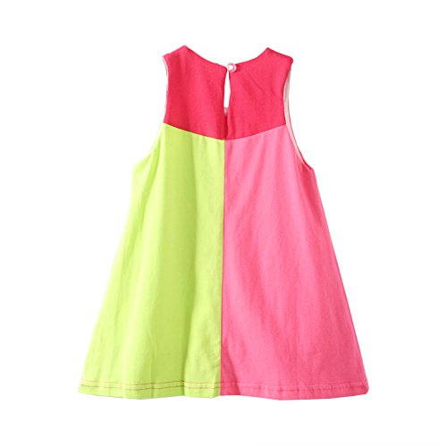 Mud Kingdom Little Girls Dresses Holiday Summer Flower Patchwork