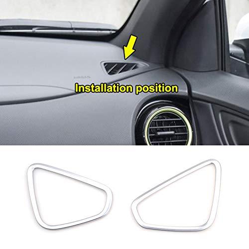 AUTOXBERT Fits for Hyundai Kona Encino Kauai 2017 2018 2019 Chrome Interior Front Side Upper Air Condition Vent AC Outlet Cover Trim Decoration