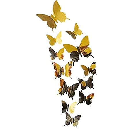 YWLINK Wall Stickers Decal Butterflies Arte De La Pared del Espejo ...