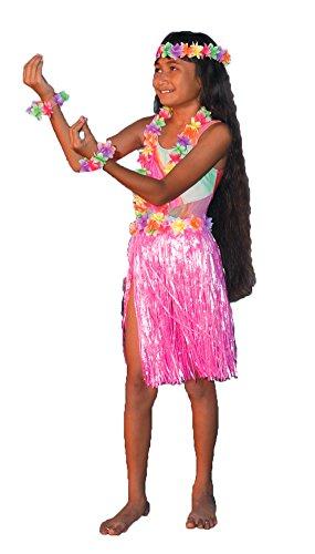 Aloha Set Child Teen Costumes (Kids-Costume Aloha Set Pink Child-Teen Halloween Costume - Most Teens)