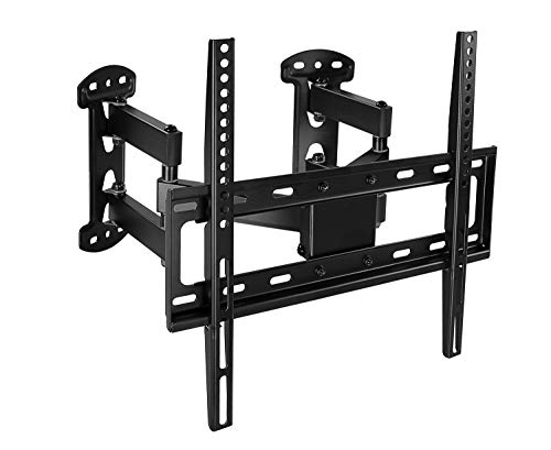 Corner TV Wall Mount - Full Motion Swivel Wall Mount Bracket Designed for Corner Installations, VESA 400x400 Pattern Fits 32, 37, 40, 42, 50, 55 Inch Televisions, 66 Lbs Capacity, MI-4481 (Swivel Mount Arms)