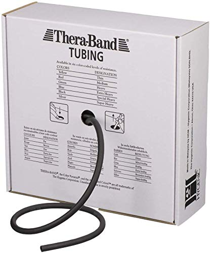 Black 30.5 m TheraBand Special Heavy Weight Resistance Tubing
