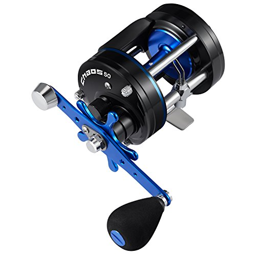 Piscifun Chaos Round Baitcasting Reel Reinforced Metal Body Baitcaster Conventional Saltwater Fishing Reels 50 Right Handed