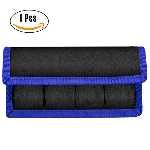 Meking DSLR Battery Case Holder Storage Bag ( 4 Pocket ) for AA/AAA Battery and Canon LP-E6 LP-E8 LP-E10 LP-E12 Battery, Nikon EN-EL14 EN-EL15 Battery, Sony NP-FW50 NP-F550 NP-FM500H Battery