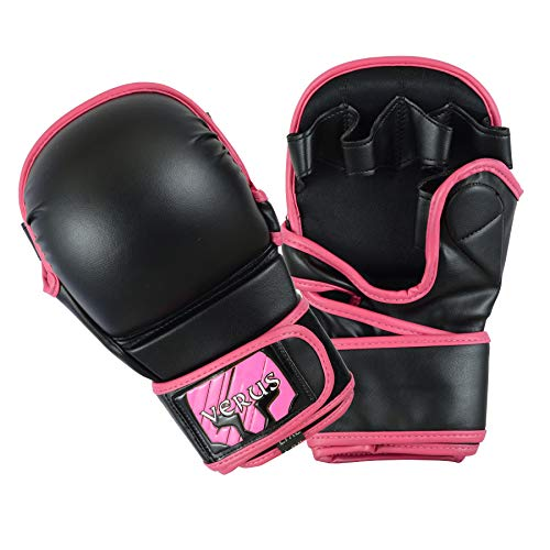 Verus Safety Sparring Heavy Bag MMA Gloves UFC Cage Fighting Grappling Mitts (Pink, - Cage Fighting Mma