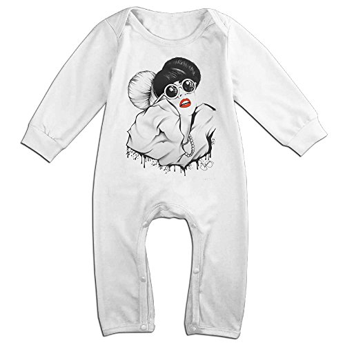 Outfit Poker Lady Gaga Face (Lady Gaga Baby Long Sleeve Romper)