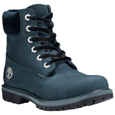 Homme velvet Premium 6in Collar Dark Timberland Boots Nubuck Green Boot 6PgRvxInq