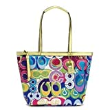 COACH SIgnature Pop C Grafitti Tote - Multi Color