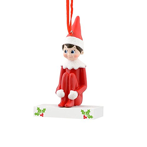 Department 56 Elf on The Shelf From Elf Boy Personalizable Ornamen Ornament 0 (Personalizable Ornament)