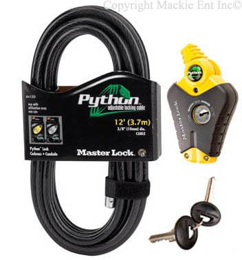 Master Lock - Python Adjustable Cable Locks 8413-12 Keyed Coil Cable Lock