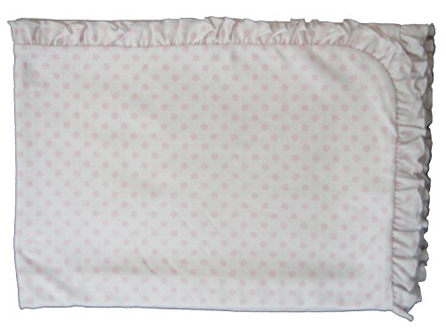 Kissy Kissy Baby-Girls Infant Delectable Dots Reversible Receiving Blanket-Pink-One Size (Reversible Shortall)