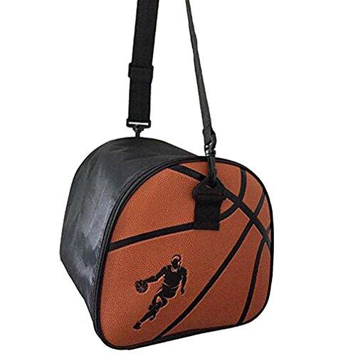 Sport Basketball Bags Ball Compartment Equipment Bag with Zipper Shoulder Strap, Black