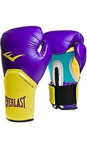 Luva Boxe Elite Pro Style Roxo/amarelo Everlast - 14oz