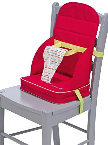 Safety 1st 27548820 Stuhl-Sitzerhöhung Travel Booster für unterwegs, ab 18 Monate, red dot