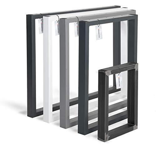 HOLZBRINK Patas de Mesa perfiles de acero 60x30 mm, forma de marco 80x72 cm, Negro Intenso, 1 Pieza, HLT-01-D-FF-9005