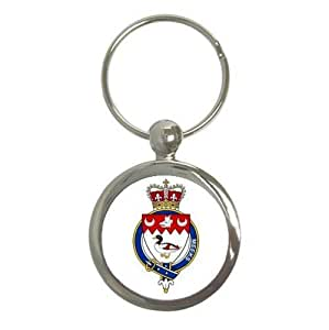 Meeks or Meik Scotland Family Crest Round Key Chain Coat of Arms Keychain