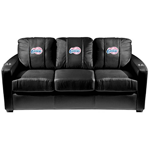 XZipit NBA Silver Sofa with Los Angeles Clippers Logo Panel, Black