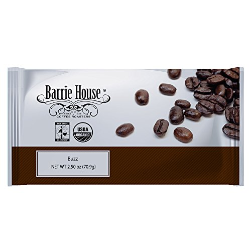 Barrie House Fair Trade Organic Buzz Energized Coffee 2.50 oz. Portion Pack 24 ct ()