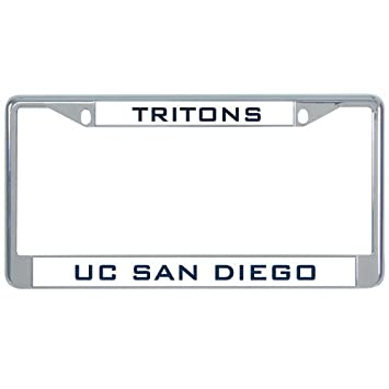 Amazon.com: UC San Diego Metal License Plate Frame in Chrome \'UCSD ...