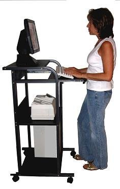 Stand up Computer Cart 24'' Wide - Portable S2445W