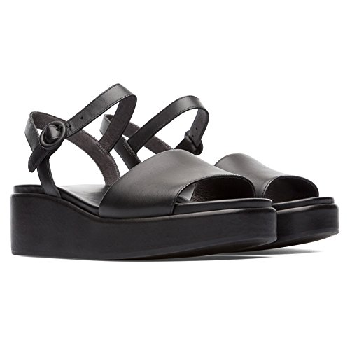 Camper Misia 200564-001 Black (Leather) Womens Sandals 8 US by Camper