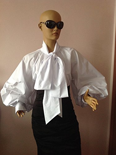 White Bow blouse,Women Cotton Formal Blouse,Cocktail White Top,White Women's Shirt,Artsy White Blouse