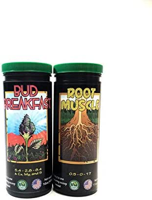 Good Stuff Grow Jump Start Kit | Bud Breakfast & Root Muscle | Organic Canna Nutrients for Explosive Growth & Root Development