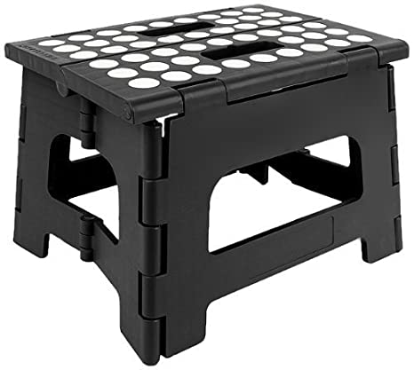 Admirable Stepsafe High Quality Non Slip Folding Step Stool For Kids And Adults With Handle 9 In Height Holds Up To 300 Lb Black Ocoug Best Dining Table And Chair Ideas Images Ocougorg